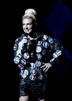 Bree Morse (Miss CA 2015) - Custom contestant button jacket