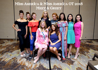 Jessica Baeder, Cara Mund with Miss CA 2018 Finalists